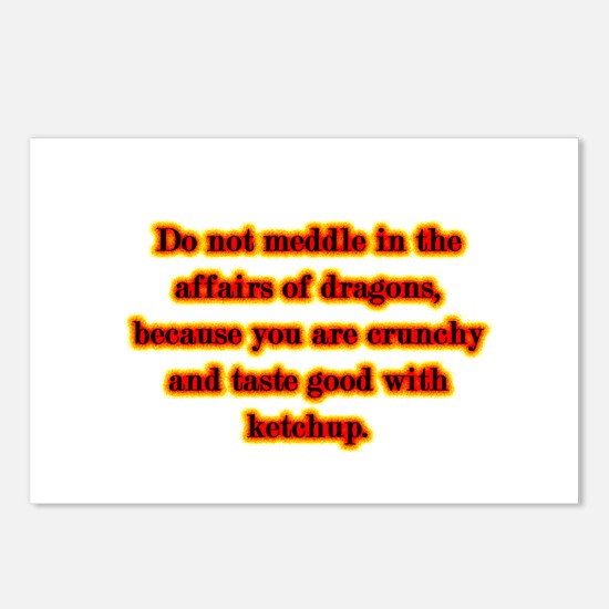 Dragon Warning Postcards (Package of 8)
