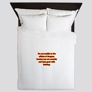 Dragon Warning Queen Duvet