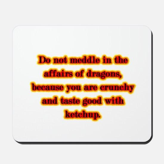 Dragon Warning Mousepad