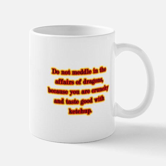 Dragon Warning Mugs