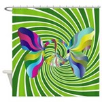 Groovy Retro Multi Colored Shower Curtain