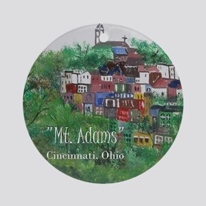 Mt. Adams - Cincinnati, Ohio, with Round Ornament