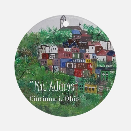 Mt. Adams - Cincinnati, Ohio, with Round Ornament