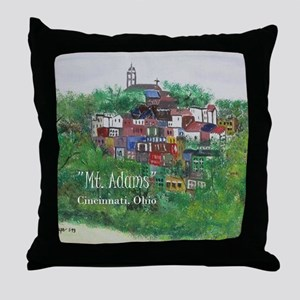 Mt. Adams - Cincinnati, Ohio, with ti Throw Pillow