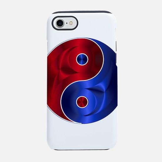 Metallic Red & Blue Yin & Ya iPhone 8/7 Tough Case