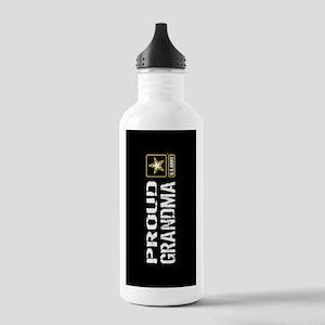 U.S. Army: Proud Grandma (Black) Water Bottle