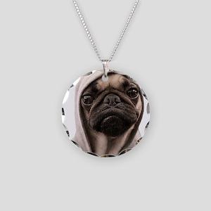 Pug Life Necklace Circle Charm