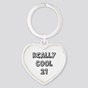 Really Cool 21 Designs Heart Keychain