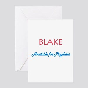 Blake - Available for Playdat Greeting Card
