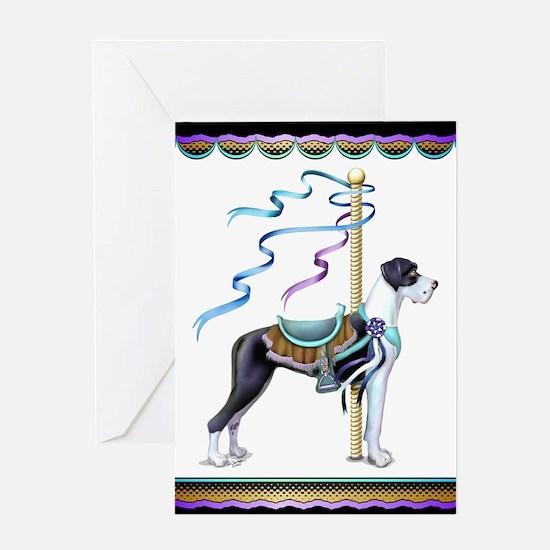 Great Dane Mantle UC Carousel Greeting Card