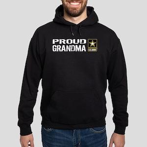 U.S. Army: Proud Grandma (Black) Hoodie