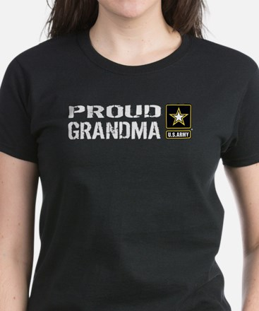 U.S. Army: Proud Grandma (Black) T-Shirt