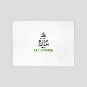 LEONBERGER I cant keeep calm 5'x7'Area Rug