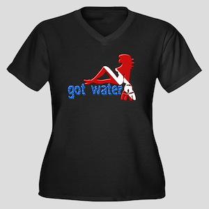Got Water Women's Plus Size V-Neck Dark T-Shirt