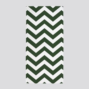 Green, Pine: Chevron Pattern Beach Towel