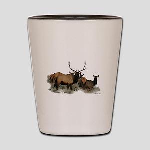 Trophy bull elk 2 Shot Glass