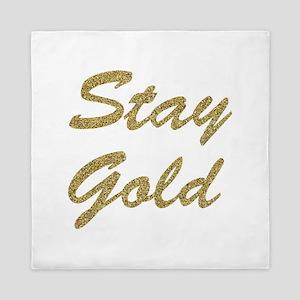 Stay Gold Queen Duvet