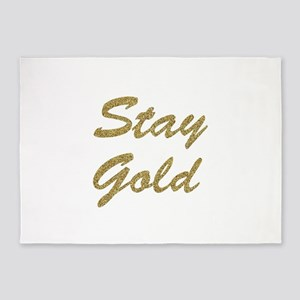 Stay Gold 5'x7'Area Rug