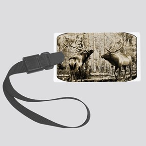 Elk sepia Large Luggage Tag