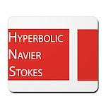 Hyperbolic Navier-Stokes: Mousepad