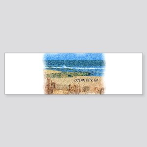 Ocean City NJ Beach Bumper Sticker