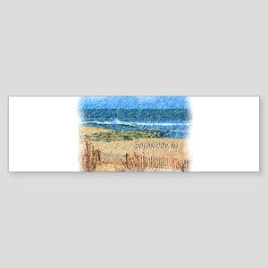 Ocean City NJ Beach Bumper Sticker