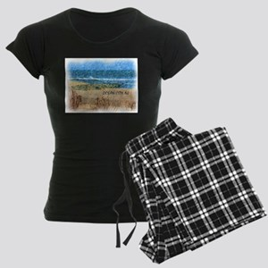 Ocean City NJ Beach Women's Dark Pajamas