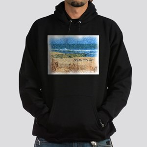 Ocean City NJ Beach Hoodie (dark)