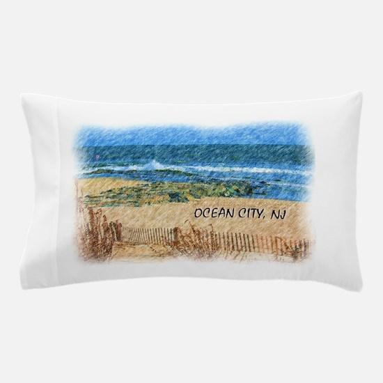 Ocean City NJ Beach Pillow Case
