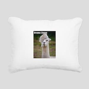 Drama Llama Rectangular Canvas Pillow