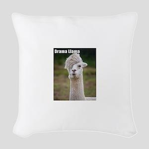 Drama Llama Woven Throw Pillow