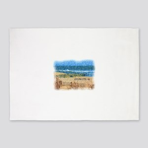 Ocean City NJ Beach 5'x7'Area Rug