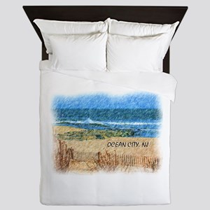 Ocean City NJ Beach Queen Duvet