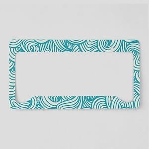 Waves Pattern License Plate Holder