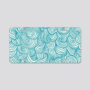 Waves Pattern Aluminum License Plate