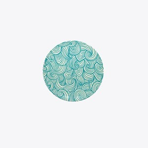 Waves Pattern Mini Button