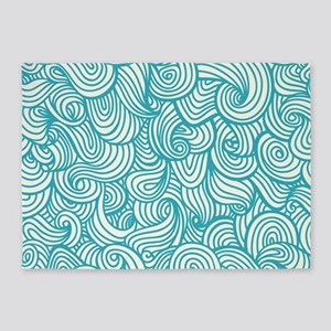 Waves Pattern 5'x7'Area Rug