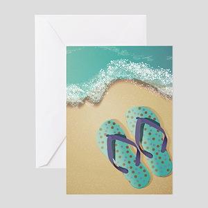 Flip Flops Greeting Cards