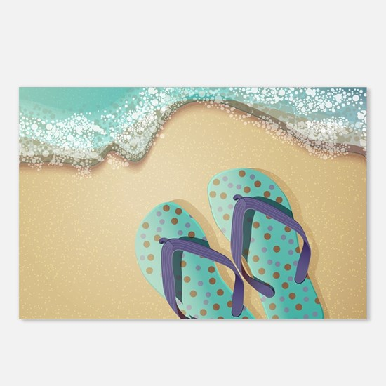Flip Flops Postcards (Package of 8)
