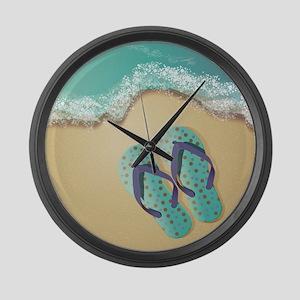 Flip Flops Large Wall Clock