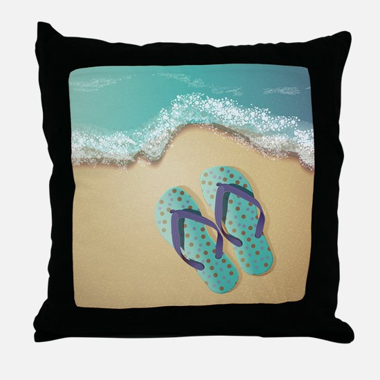 Flip Flops Throw Pillow