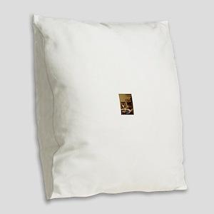 Happy Birthday Pug Burlap Throw Pillow