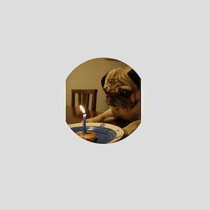 Happy Birthday Pug Mini Button