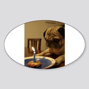 Happy Birthday Pug Sticker