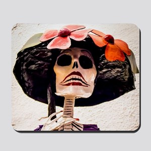 Day of the Dead Large Skeleton Lady with Mousepad