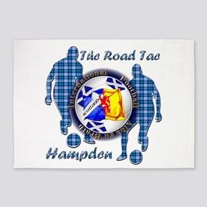 Scotland Football Blue Tartan Together 5'x7'Area R