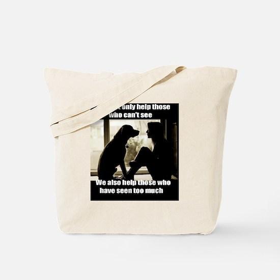 Unique Service dog Tote Bag