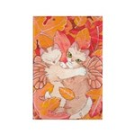 Fall Catterfly Rectangle Magnet