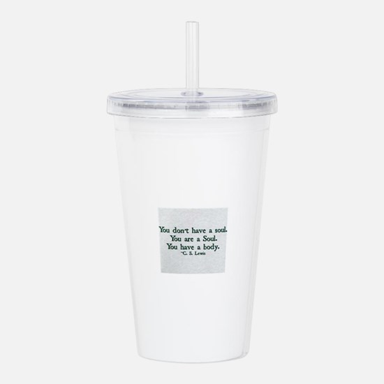 Soul and Body Acrylic Double-wall Tumbler