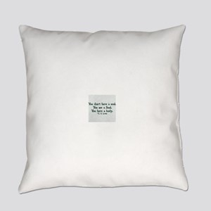 Soul and Body Everyday Pillow